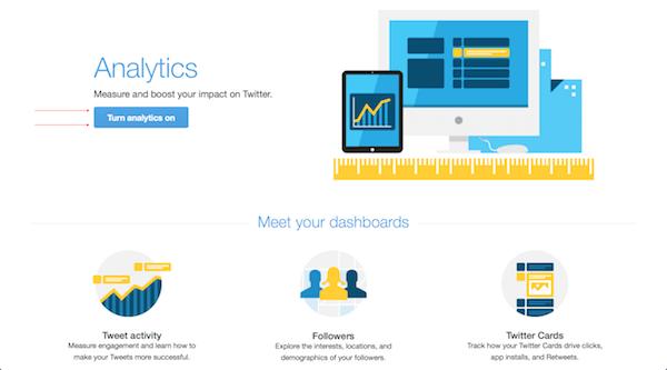 Turn on Twitter impressions metrics