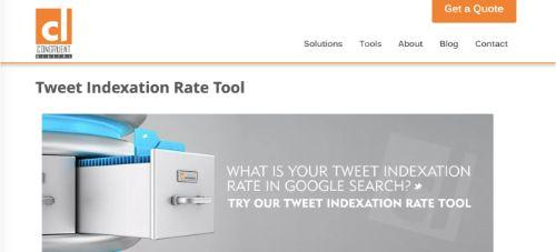 Congruent Digital - Tweet Indexation Rate Tool